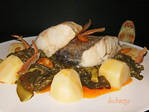Xenos con bacalao-plato