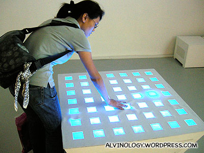 Dancing blue light with motion sensors