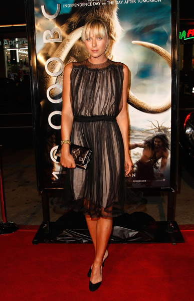 "Tennis star Maria Sharapova arrives at the premiere of Warner Bros. Pictures' ""10,000 B.C."" at the Grauman's Chinese Theatre on March 5, 2008 in Hollywood, California."