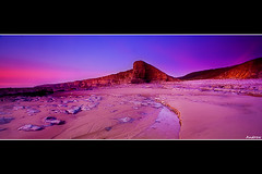 Last Light at Nash Point (andrewwdavies) Tags: longexposure sunset sea sky beach water clouds geotagged evening rocks tripod cliffs filters hitech circularpolariser canonefs1022mmf3545usm llantwitmajor nashpoint neutraldensity ndgrad llanilltudfawr graduatedfilter glamorganheritagecoast canoneos40d mistywater andrewwilliamdavies geo:lat=51403115 09xnd geo:lon=3562153