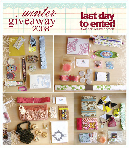 giveaway:: last day!