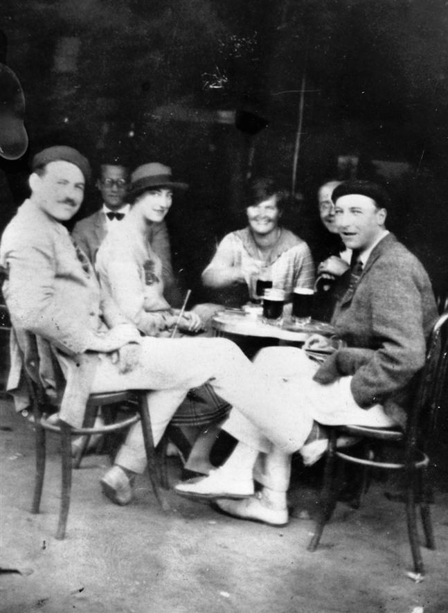 The Hemingways at a cafe, Pamplona, Spain, 1925