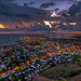 Cloudy dawn over Townsville HDR by bauplenut