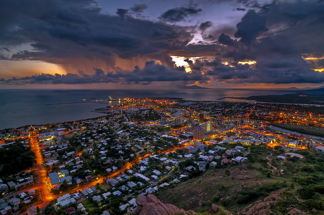 Cloudy dawn over Townsville HDR