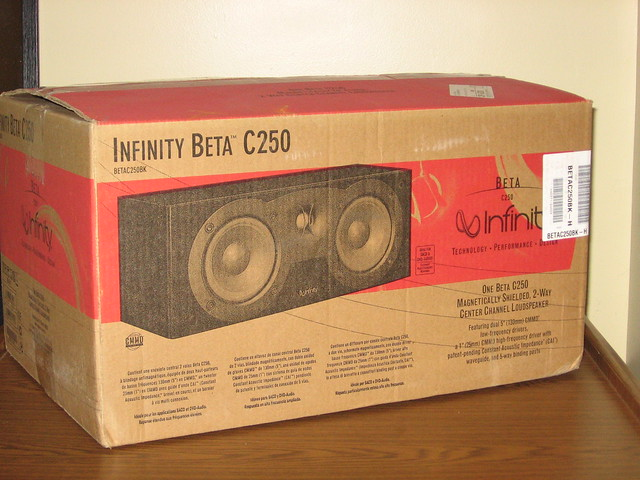 Infinity Beta C250 Center Channel Speaker - Like New by raulsanchez1971