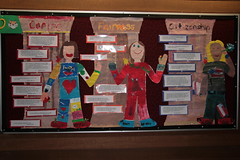 Character Counts (snelly23) Tags: art kids writing painting buddies caring citizenship values traits fairness classroomdisplay charactercounts