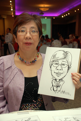 Caricature live sketching for Christ Methodist Church Christmas Celebration - 6