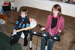Gabe and Sooze on Drums