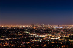 Los Angeles Downtown by night (Lucas Janin | www.lucasjanin.com) Tags: california city longexposure blue light sky usa color night star iso200 nikon lumire ciel f90 getty nikkor nuit ville gettyimages lightroom 70mm longueexposition 100sec flickraward nikond700 lucasjanin afsnikkor2470mmf28ged nikonflickraward nikonflickraward50mostinteresting