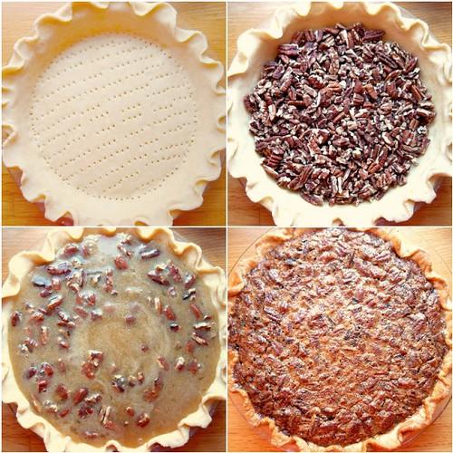 Pecan Pie Baking