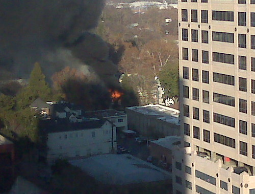 Fire near 13th and K Streets, Sacramento Dec 30, 2008