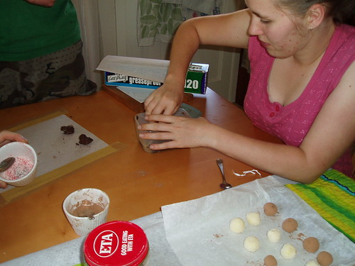 Helen making truffles