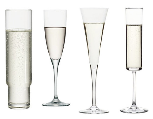 crate and barrel champagne flutes