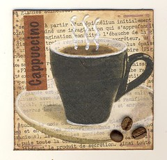 Cappuccino - Chunky page (batraplume) Tags: coffee café book mixed media mixedmedia kaffee page chunky