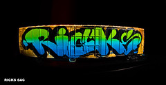 RICKS. (blood IV lube) Tags: graffiti sac ricks skateallcities railsandrelics