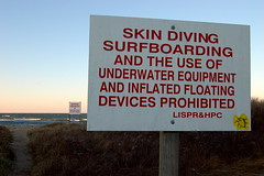 Things That Aren't Allowed (taberandrew) Tags: ny newyork beach sign montauk prohibited skindiving montaukpoint suffolkcountyny