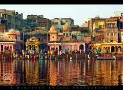 Vishram Ghat, Mathura (Himanshu Khagta) Tags: people reflection colors boat ghat mathura yamuna travek 5photosaday vishramghat