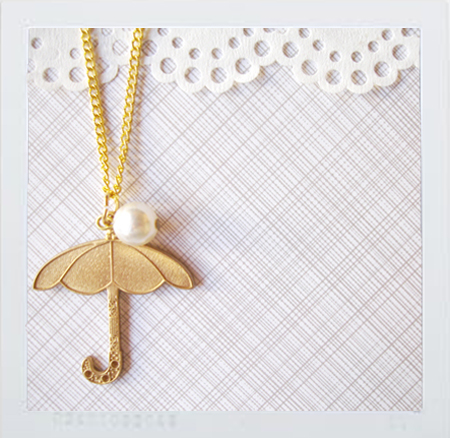 umbrella: necklace.