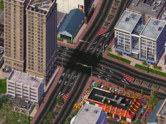 SimCity 4 left hand drive (futurama2506) Tags: drive hand 4 oops intersection left simcity