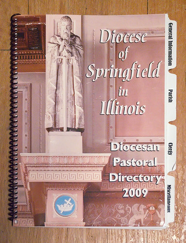 2009 Directory - Diocese of Springfield in Illinois - featuring cover photo by Mark Scott Abeln