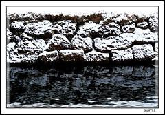 reflection (snorri.s) Tags: snow reflection water canon river iceland snjr otw mycameraneverlies