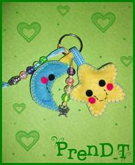 Llavero Kawaii (PrenD-T) Tags: moon cute azul star keyring felt amarillo kawaii feltro llavero fieltro prendt