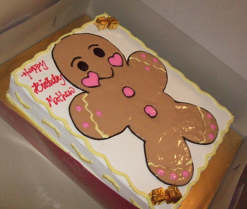 gingerbread man birthday cake