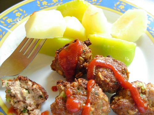 meatballs with root vegetables