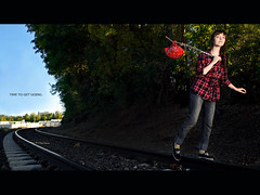 269/365 September 26, 2009 (laurenlemon) Tags: travel portrait leaving lyrics interestingness widescreen traintracks adventure explore tribute letterbox 365 bandana tompetty inspiredby timetomoveon 365days explored september09 canoneos5dmarkii laurenrandolph laurenlemon ivebeenreallyintotheletterboxcroplately feelingcinematicorsomething