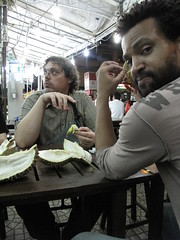 Eating Durian - Geylang, Singapore