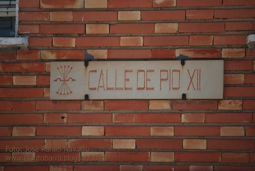 Placas - Calle de Pio XII