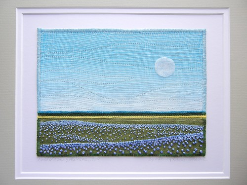 Flaxfield and the Moon, 2011 by Monika Kinner-Whalen by My Sweet Prairie