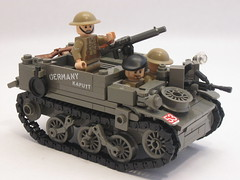"Canadian Universal Carrier Mk.II ""Germany Kaputt"" (""Rumrunner"") Tags: men infantry army gun lego brodie wwii helmet machine lewis canadian 2nd ww2 decal universal custom carrier bren worldwar2 brigade mkii allies armoured brickarms brickmania"
