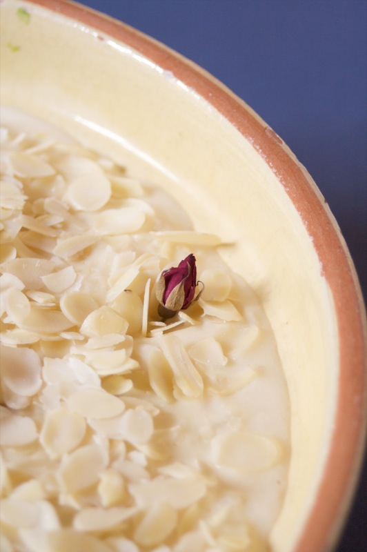 Kheer, Indian rice pudding, the rose bud