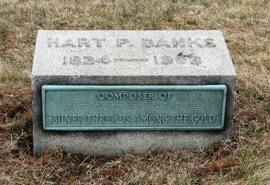 "Hart Pease Danks, composer of ""Silver Threads Among the Gold""  written in 1873 based on a poem by Eben Rexford"