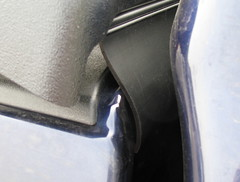 Seal flap between cab and bed.
