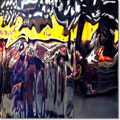 Reflections on a subway wall (Ametxa) Tags: madrid españa experimentation aesthetic 500x500 creativephoto estaciondeatocha mywinners anawesomeshot givemeratings