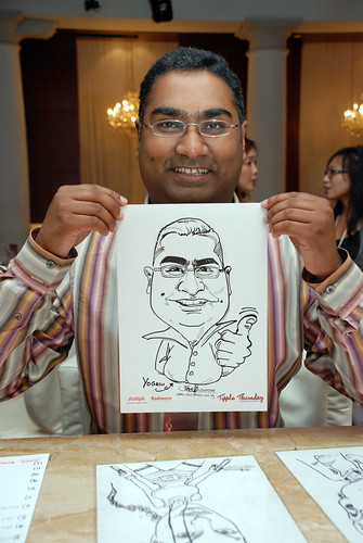 caricature live sketching Singtel Radiance Communications Avaya 1