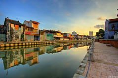 Perfect Morning Malacca River (sachman75) Tags: morning sunrise river malaysia 1022mm hdr melaka malacca 40d lpreflections2