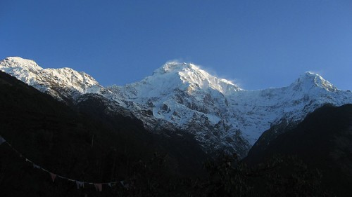 Sunrise over Annapurna South and Hiun Chuli