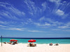 Drawing with clouds (jendayee) Tags: blue sea beach water beautiful sand bright gap sunny stlawrence barbados