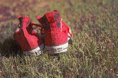The lost pair #2 ({Ellie}) Tags: red fashion bokeh dotted converse dots allstar mywinners colourartaward