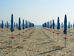 Waiting for the summer... (*DaniGanz*) Tags: sea italy beach umbrella interestingness mediterranean mediterraneo italia mare sable explore umbrellas ombrelloni spiaggia adriatic italians 201 emiliaromagna sabbia adriatico cervia ombrellone pinarella daniganz flickrsexplore pinarelladicervia goldstaraward