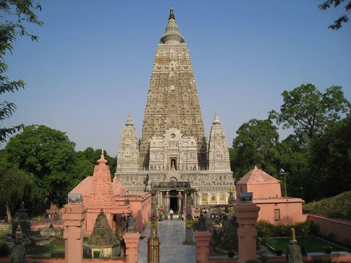 Mahabodhi Temple at sunrise