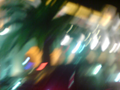 Sur la Riviera (MBadia) Tags: blur night canon nice riviera fuzzy lumire palm palmtree nuit flou palmier boug mbadia michelbadia