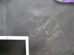 I <3 Computers and Math (NJ Tech Teacher) Tags: computer math chalkboard sms