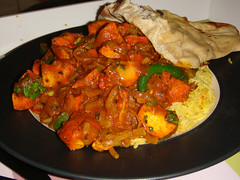 Chicken balti from Delta Indian Takeaway, Edinburgh