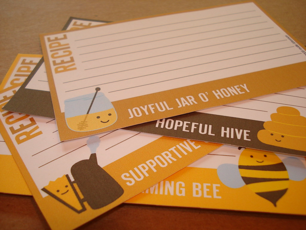 Honey Honeys Recipe Cards