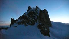 Sunrise at the Aiguille (chaletlaforet) Tags: mountaineering chamonix aiguilledumidi cosmiquesarte