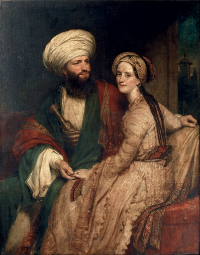 Henry William Pickersgill, James Silk Buckingham and his Wife Elizabeth in Arab Costume, Baghdad, 1825